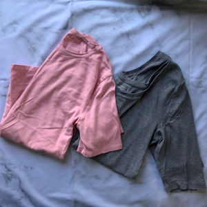 2 J Crew Short Sleeve T Shirts Gray And Pink Sz XL